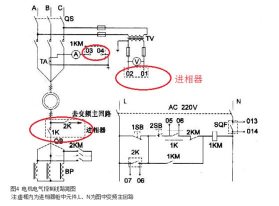 水阻柜与进相器之间的接线图,一次系统原理图,一次回路图.png