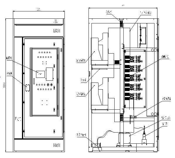 高压固态软启动器柜体装置图(三合一).jpg