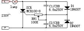 单向可控硅触发电路图