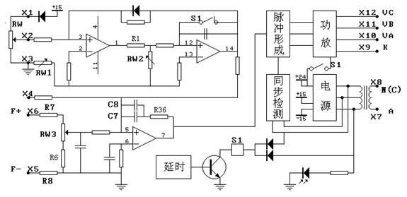 可控硅三相移相触发控制器原理图