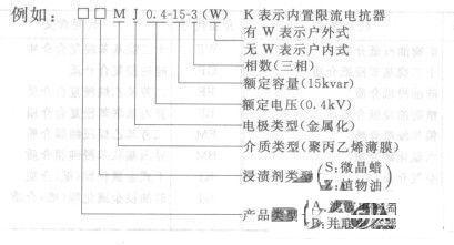 电力电容器型号及含义